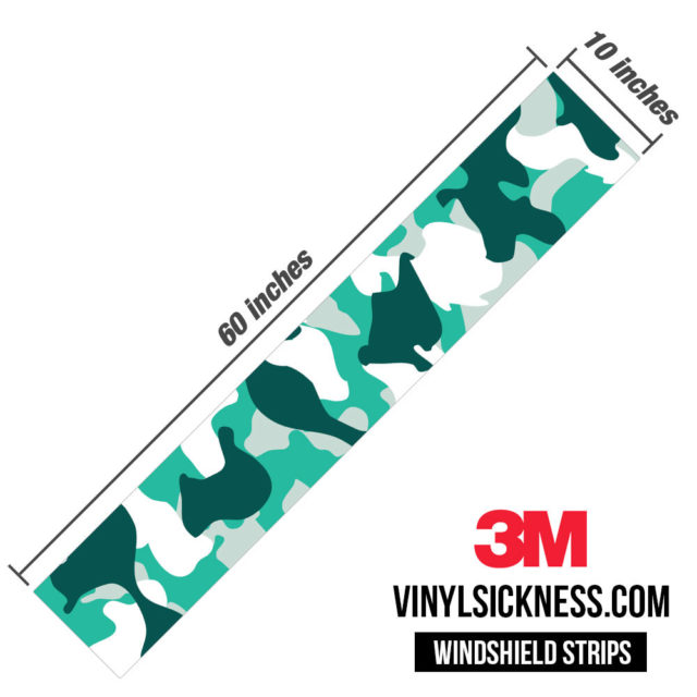 Jdm Premium Windshield Strip Banner Camo Ice Dimensions