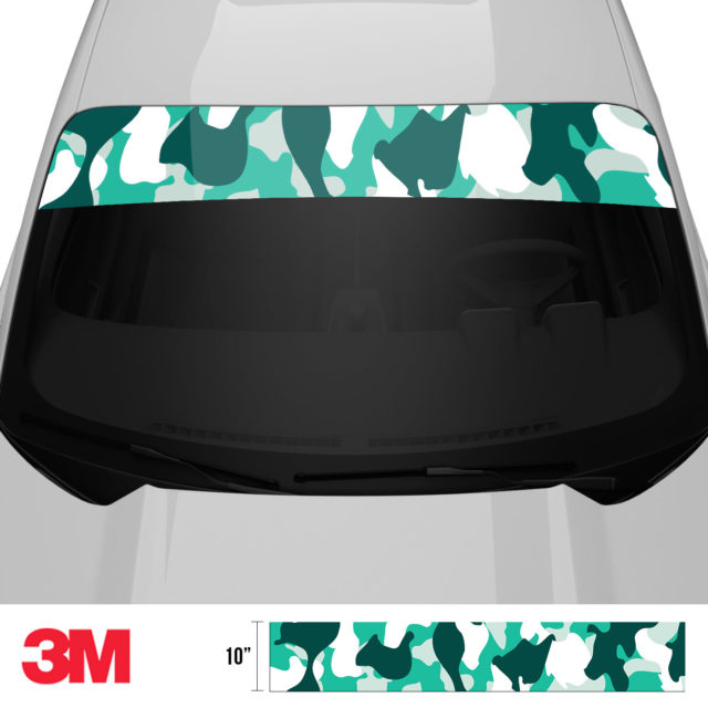 Jdm Premium Windshield Strip Banner Camo Ice Front 2