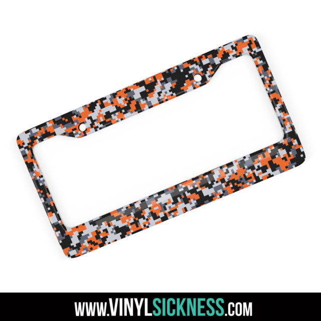 Jdm Tuner Premium Digital Camo Sunset License Plate Frame