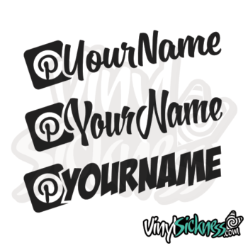 Custom Pinterest Username Jdm Car Vinyl Sticker / Decal