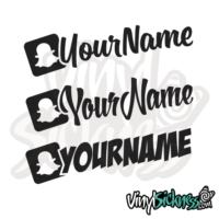CUSTOM SNAPCHAT USERNAME STICKERS DECALS - Custom vinyl stickers for cars