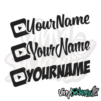 Custom Youtube Username Jdm Car Vinyl Sticker / Decal