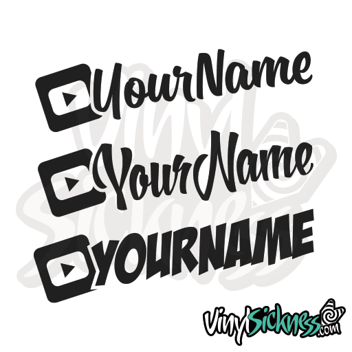 CUSTOM YOUTUBE USERNAME STICKERS DECALS - Vinyl stickers for cars custom