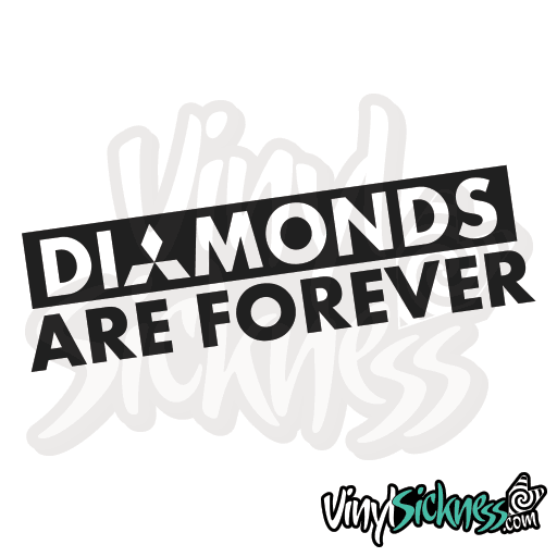 Home shop stickers style · diamonds are forever