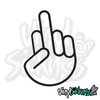 Jdm Middle Finger Sticker / Decal
