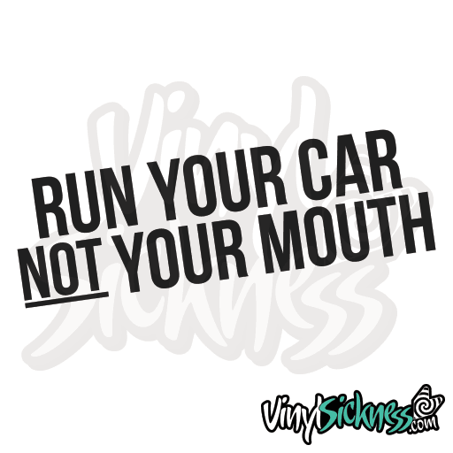 RUN YOUR CAR STICKERS DECALS Vinyl Sickness - Decals for your car