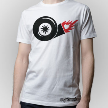 Turbo On Fire White Jdm Tuner Shirt