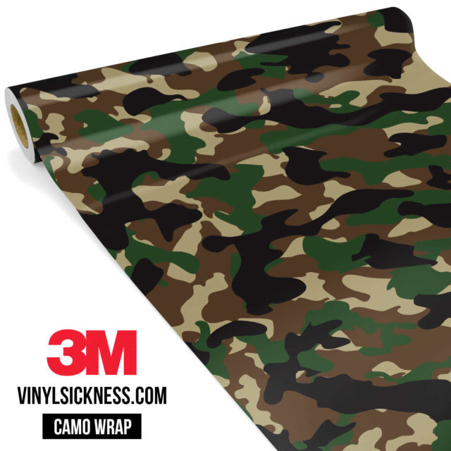 Jdm Premium Camo Military Vinyl Wrap Regular